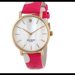 Kate Spade Metro mother of pearl gold plated watch